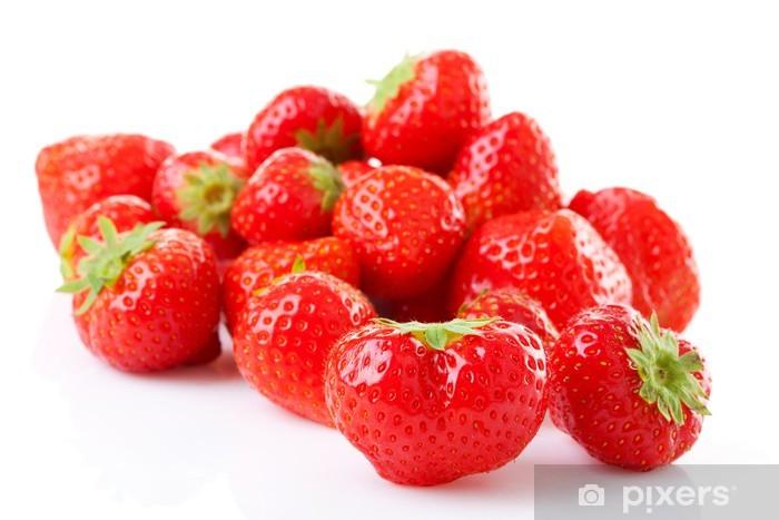 Papier peint vinyle Couple de fraises fraîches en gros plan - Thèmes