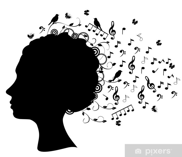 Vector Head Silhouette With Musical Notes Wall Mural Pixers We Live To Change Most relevant best selling latest uploads. https pixers net au wall murals vector head silhouette with musical notes 46294611