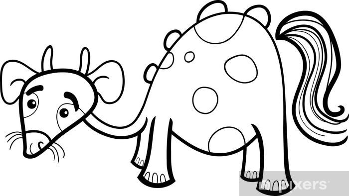 Vinilo Criatura De La Fantasía De Dibujos Animados Para Colorear Pixerstick