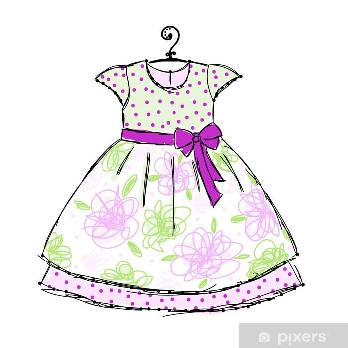 37e52c93694a Fototapeta Dětské šaty na ramínka pro svůj design • Pixers® • Žijeme ...