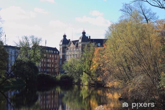 Naklejka Pixerstick Jesień w Nyhavn - Pory roku
