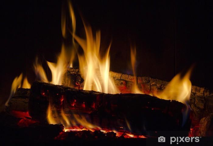 Fototapeta winylowa Ogień w kominku - Szczęście