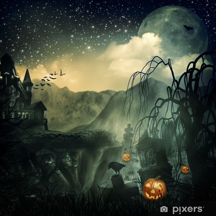 Scary Movie. Abstract halloween backgrounds for your design Washable Wall Mural - International Celebrations