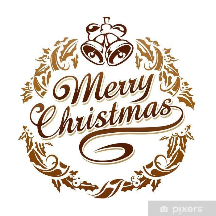 Frohe Weihnachten Aufkleber.Aufkleber Frohe Weihnachten Typografie Pixerstick