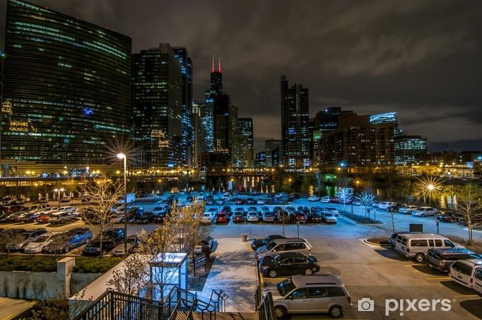 Carta da Parati in Vinile Downtown Chicago - America