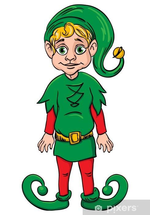 Aiutante Di Babbo Natale.Adesivo Elfo Aiutante Di Babbo Natale Indossando La Tuta Verde Pixers Viviamo Per Il Cambiamento