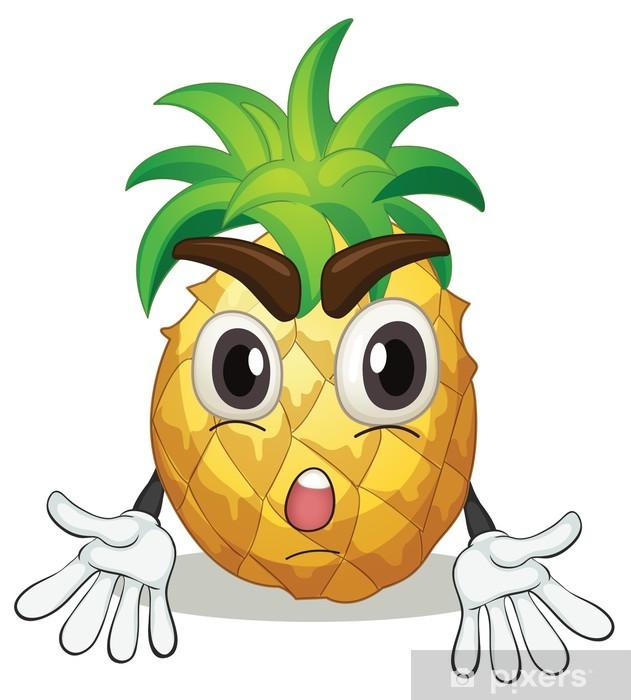 Nálepka Pixerstick Ananas - Části těla