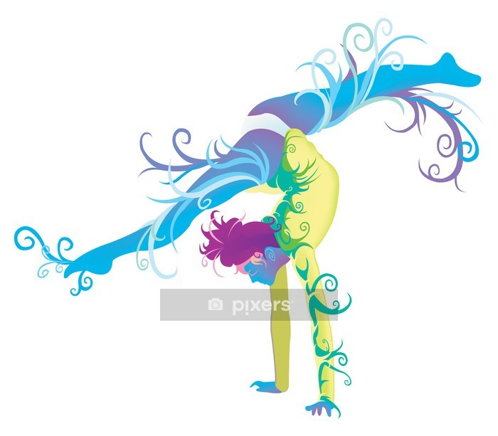 Gymnastic performer with abstract and fantasy concept Wall Decal - Art and Creation