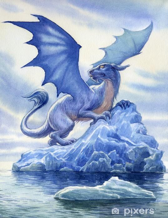 Papier peint vinyle Dragon. Peinture à l'aquarelle. - Thèmes
