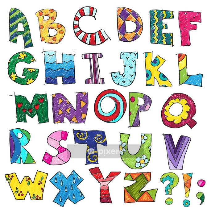 ABC. Kids funny alphabet, vector Wall Decal - Themes