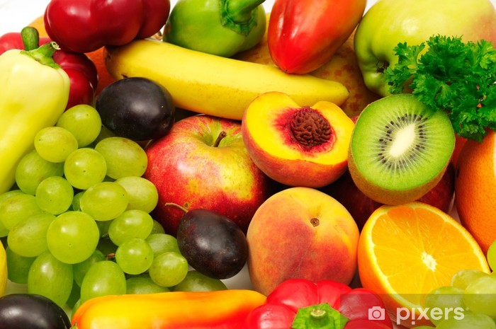 fruits and vegetables Vinyl Wall Mural - Kitchen