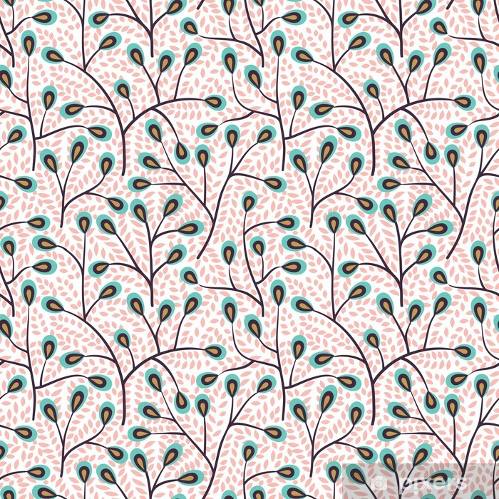Pixerstick-klistremerke Skog sømløs mønster - Bakgrunner