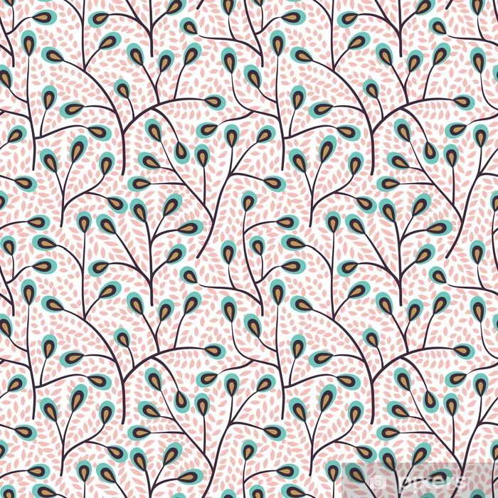 Forest seamless pattern Pixerstick Sticker - Backgrounds