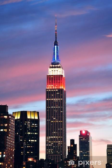 Fototapeta winylowa Empire State Building w nocy - Ameryka
