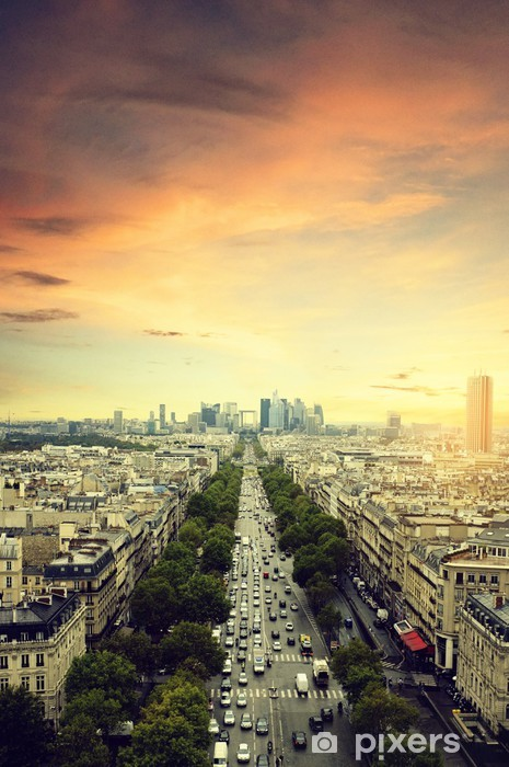 Naklejka Pixerstick Rano w Paryżu - Miasta europejskie