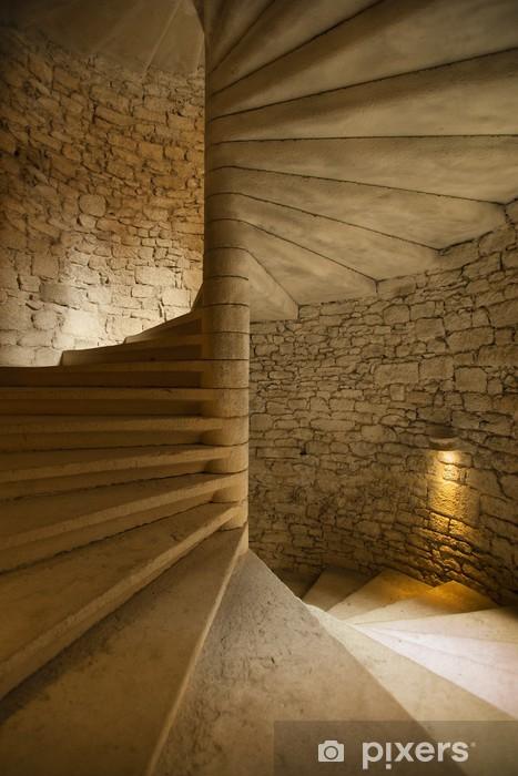 Nálepka Pixerstick Točité schodiště do středověkého hradu - Témata