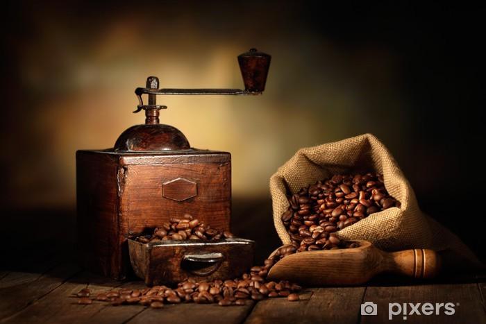 Sticker Pixerstick Moulin à café antique -