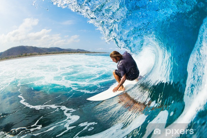Surfing Vinyl Wall Mural - Themes