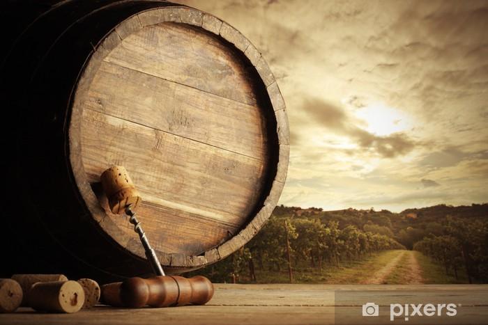 Fototapeta winylowa Winnica i beczka - Do restauracji