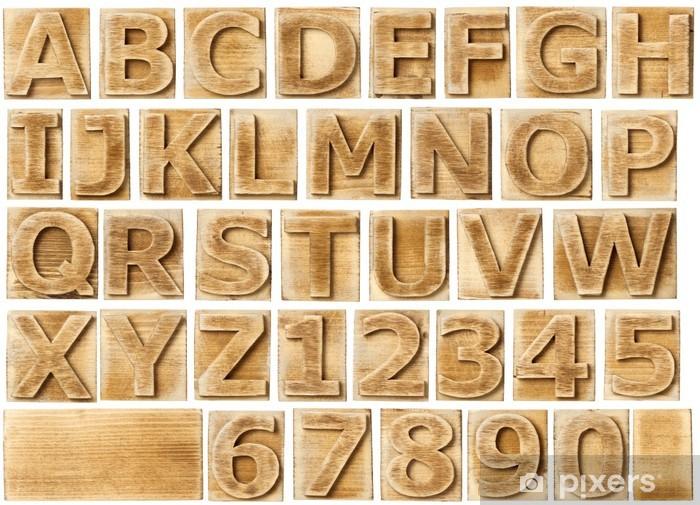 Nálepka Pixerstick Dřevěná abeceda - Témata