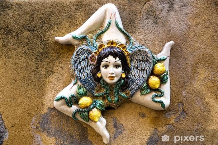 carta da parati ceramica siciliana trinacria � pixers