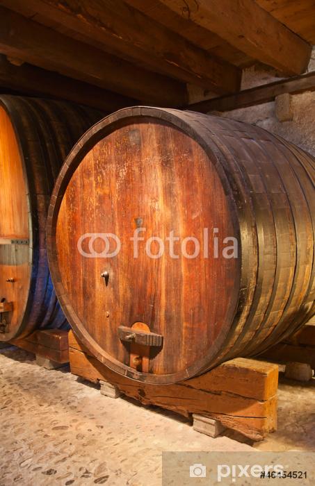 Naklejka Pixerstick Beczki wina - Europa