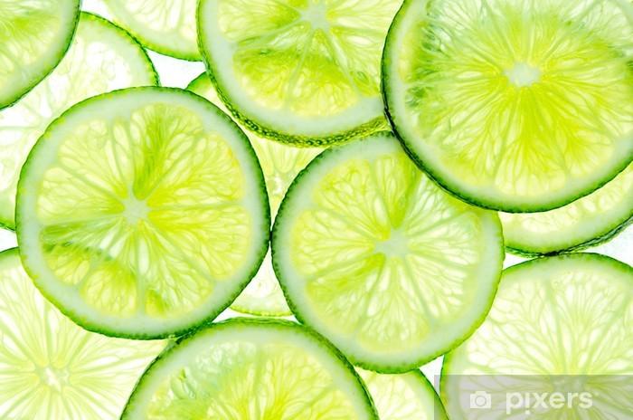 Papier peint vinyle Tranches de citron vert -