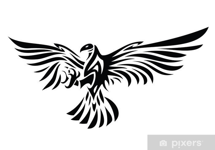 Papier peint vinyle Symbole de Eagle isolé sur blanc pour la conception de tatouage - Sticker mural