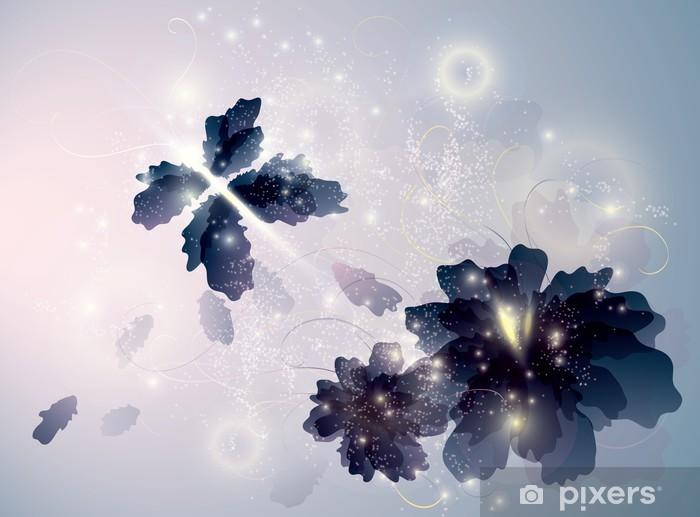 Naklejka Pixerstick Topaz Kwiaty jak motyle / szkic Surreal - Inne Inne
