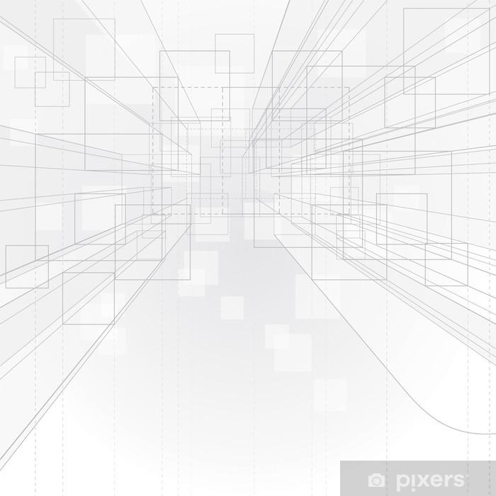 Plakat Zarys tło perspektywy rysunek. - Tematy