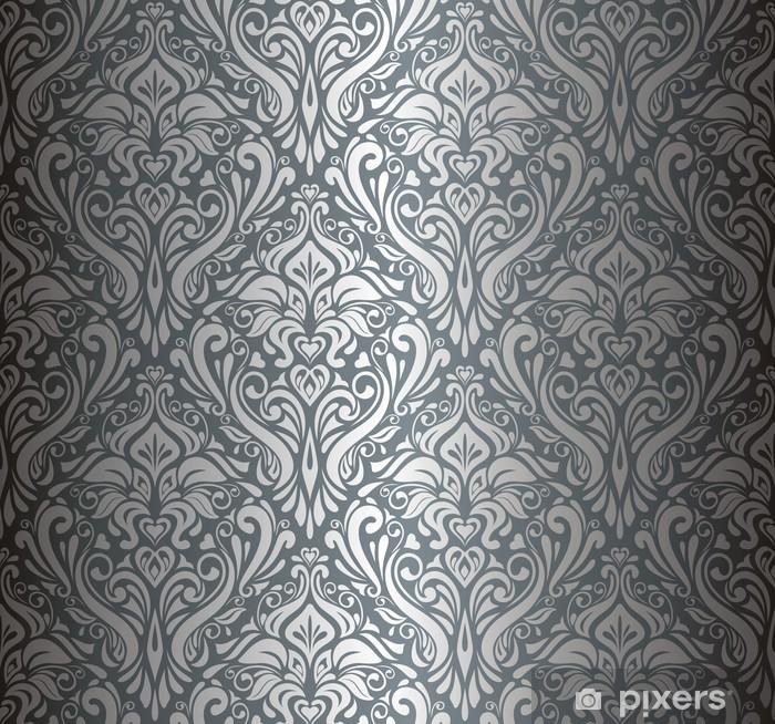 Fototapete Silber Luxus Vintage Tapete Pixers Wir Leben Um Zu