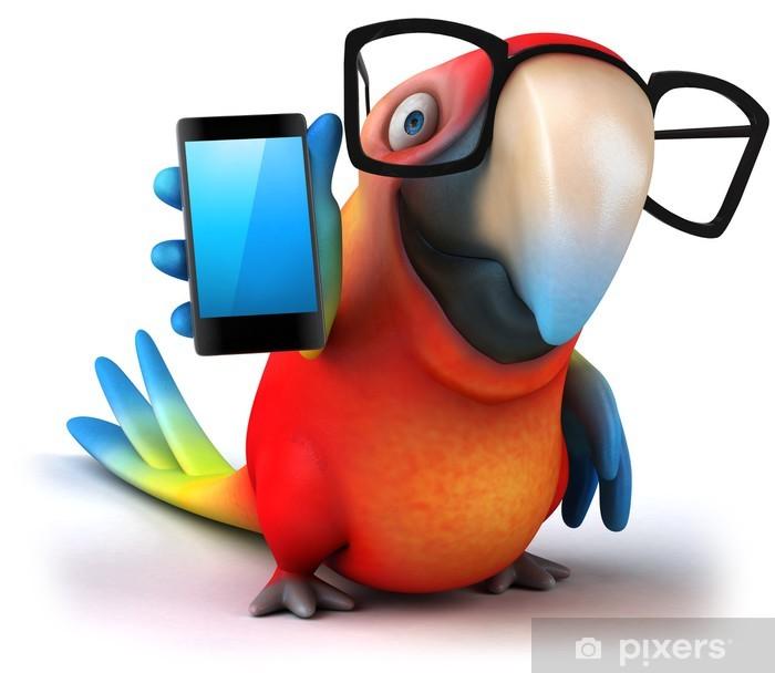 Plakat Papuga zabawy - Naklejki na ścianę