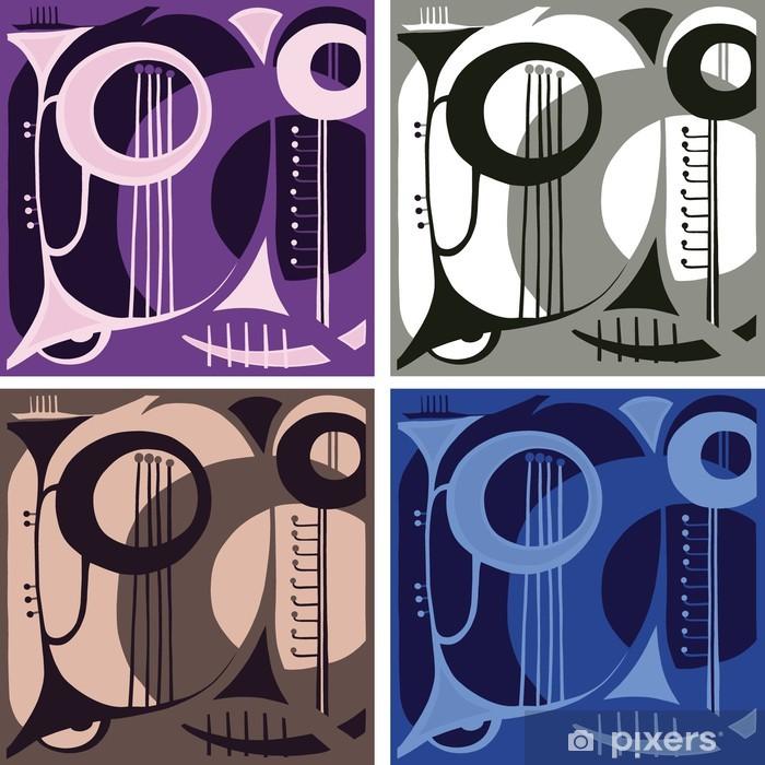 Papier peint vinyle Musique instruments à vent. abstraction. - Mode