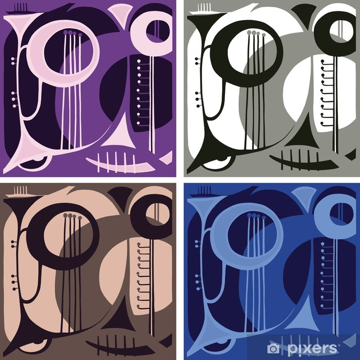 Music wind instruments. abstraction. Vinyl Wall Mural - Fashion