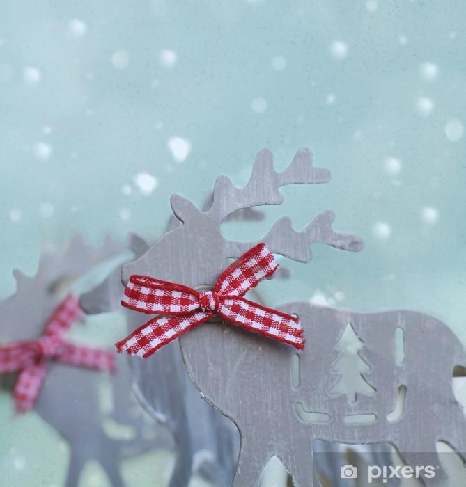 Nálepka Pixerstick Sobí ve sněhu - Mezinárodní svátky