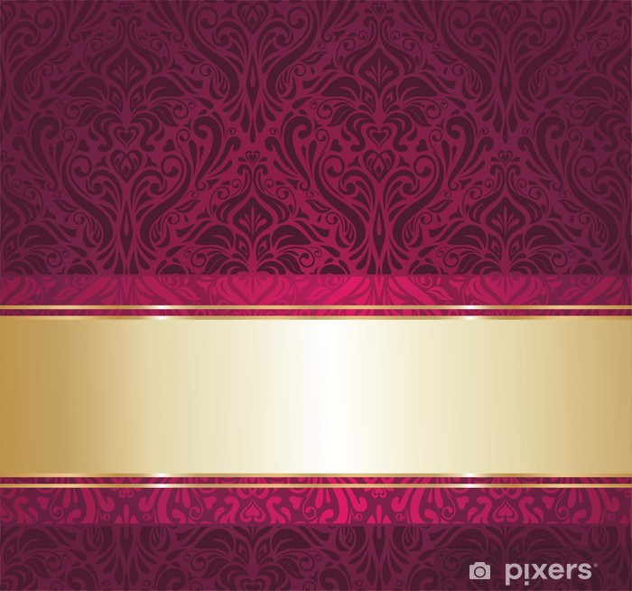 Red And Gold Luxury Vintage Wallpaper Vinyl Wall Mural National Events