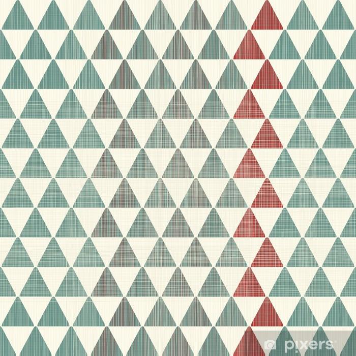 Naklejka Pixerstick Abstrakcyjne tekstury trójkąty powtarzalne wzór - Style