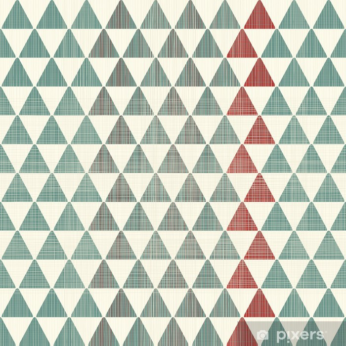 abstract textures triangles seamless pattern Poster - Styles
