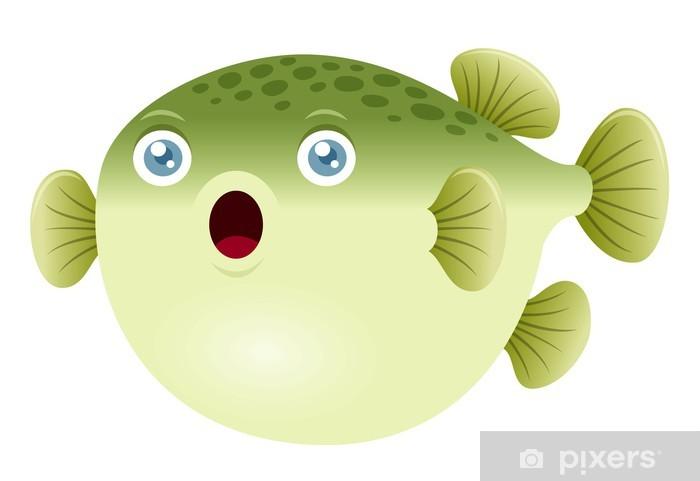 Adesivo Illustrazione Di Un Pesce Palla Pixers Viviamo Per Il
