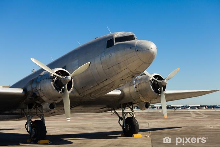 Vindu- og glassklistremerke Vintage DC-3-fly -