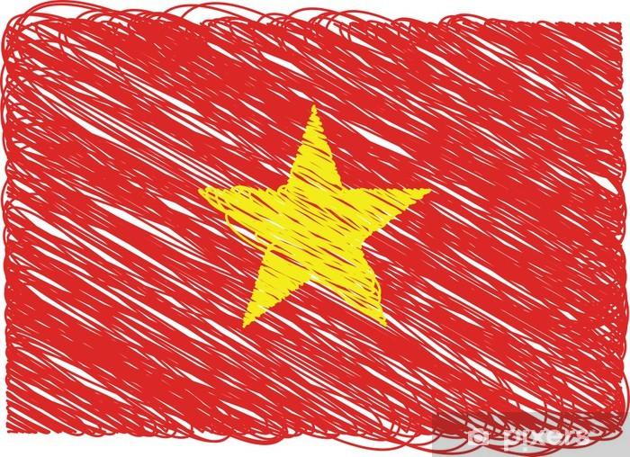 Fototapeta winylowa Flaga Wietnamu - Azja