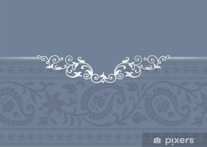 Naklejka Pixerstick Szablon ślub, Paisley kwiatowy wzór, Royal India - Świętowanie