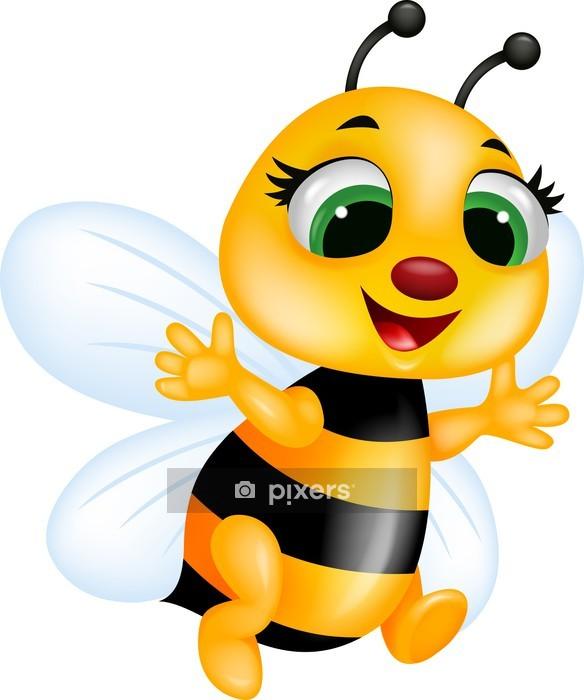 Sticker mural Bande dessinée drôle d'abeille - Sticker mural