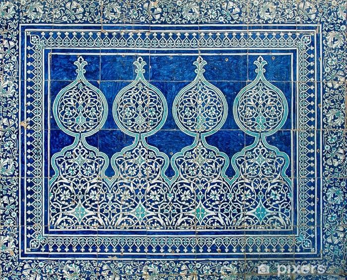 Vinyl Fotobehang Betegelde achtergrond met oosterse ornamenten - Abstractie