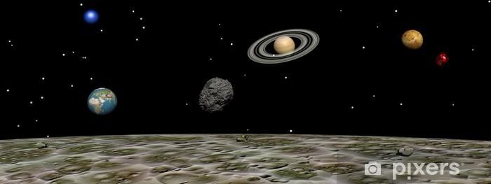 Papier peint vinyle Planètes de la lune - Saturne