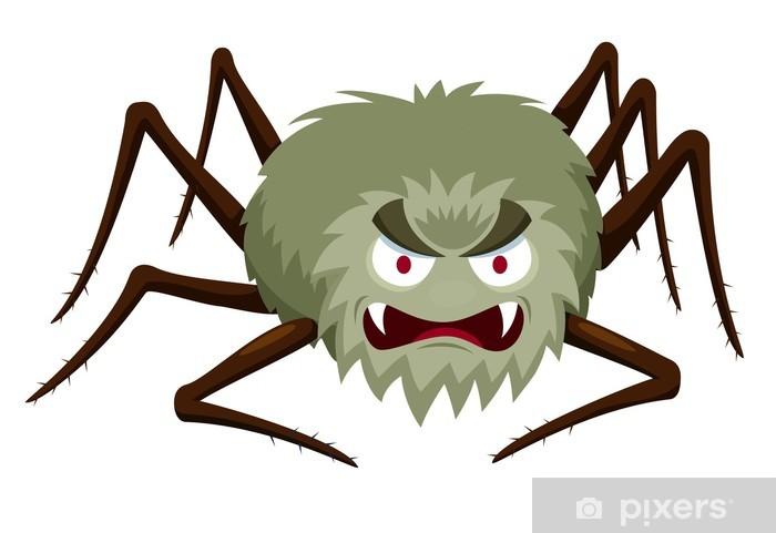 Illustration Of Cartoon Spider On White Sticker Pixers We Live To Change