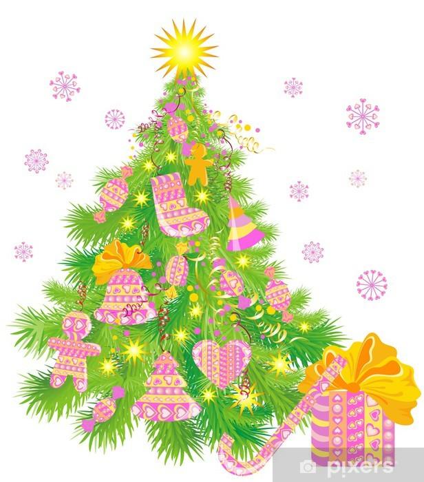vinilo arbol navidad Vinilo Arbol De Navidad Pixerstick