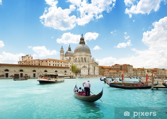 Grand Canal and Basilica Santa Maria della Salute, Venice, Italy Vinyl Wall Mural - Themes