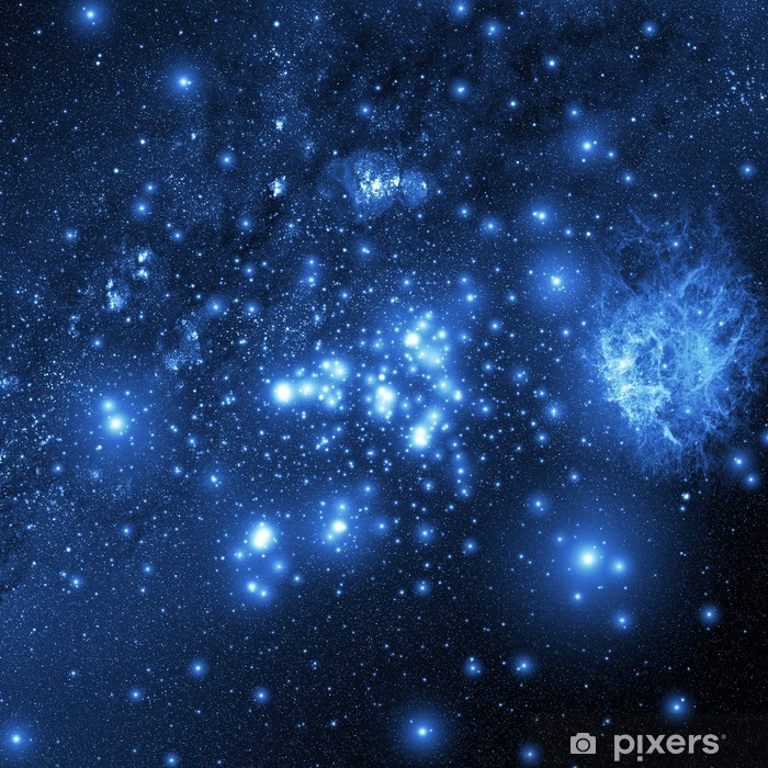 galaxy (Collage from images from www.nasa.gov) Pixerstick Sticker - Universe