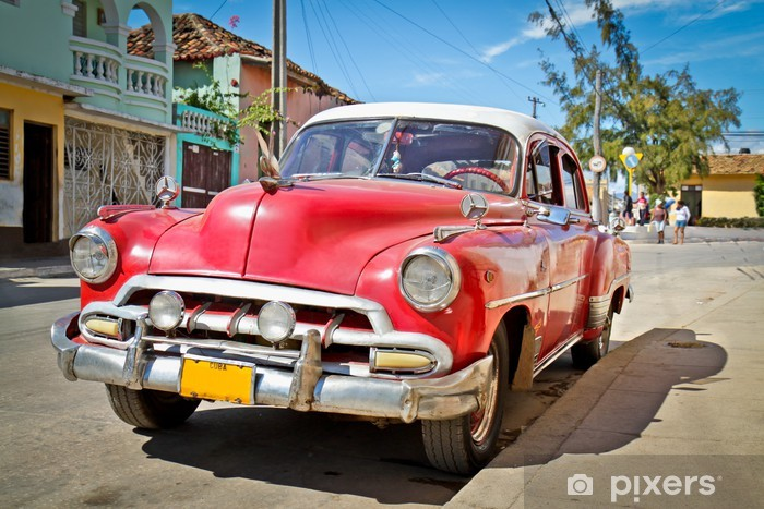 Classic Chevrolet in Trinidad, Cuba Vinyl Wall Mural - Cuba